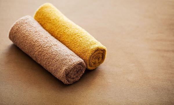 茶色いタオル