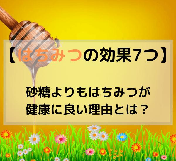 【ハチミツの効果7つ】砂糖よりもはちみつが 健康に良い理由とは? (1)