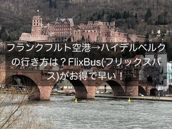 フランクフルト空港→ハイデルベルクの行き方は?FlixBus(フリックスバス)がお得で早い!