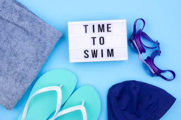 水泳の道具