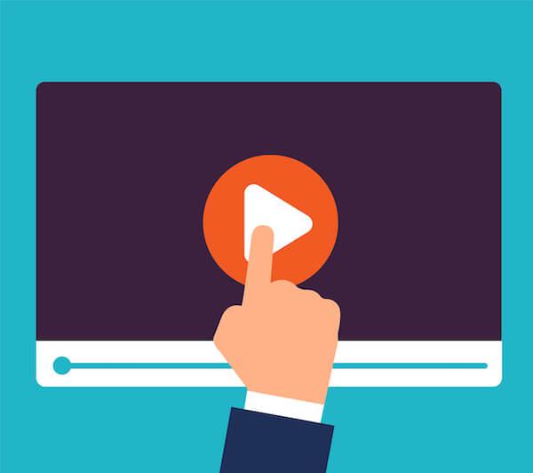 動画の再生ボタン