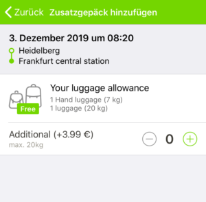 FlixBusの予約方法(荷物)
