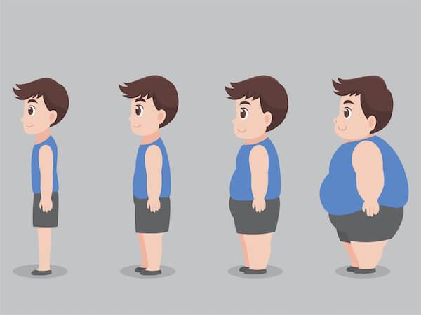 痩せていく男性