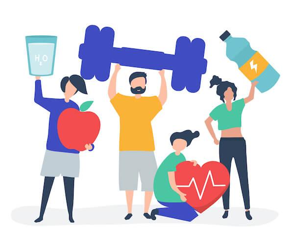 健康志向の人々